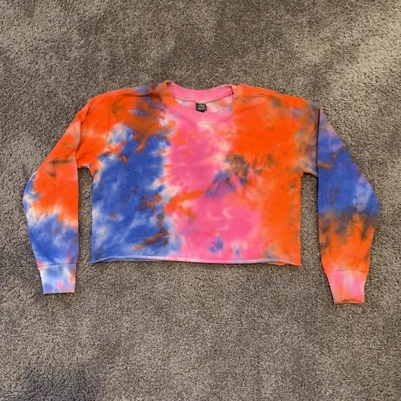 Wild Fable Tie Dye Cropped Sweatshirt